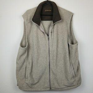 St John's Bay men's fleece zip up vest XL